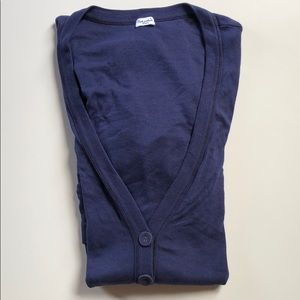 Splendid | Navy V Neck Long Cardigan | Small